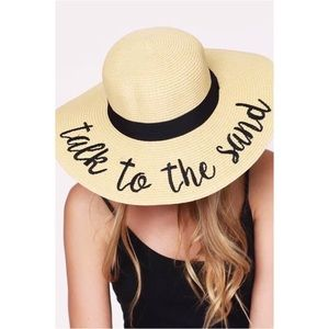 🆕Talk To The Sand Embroidered Floppy Sun Hat